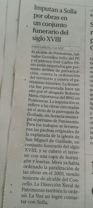 """Guillade na """"Voz e El País"""""""